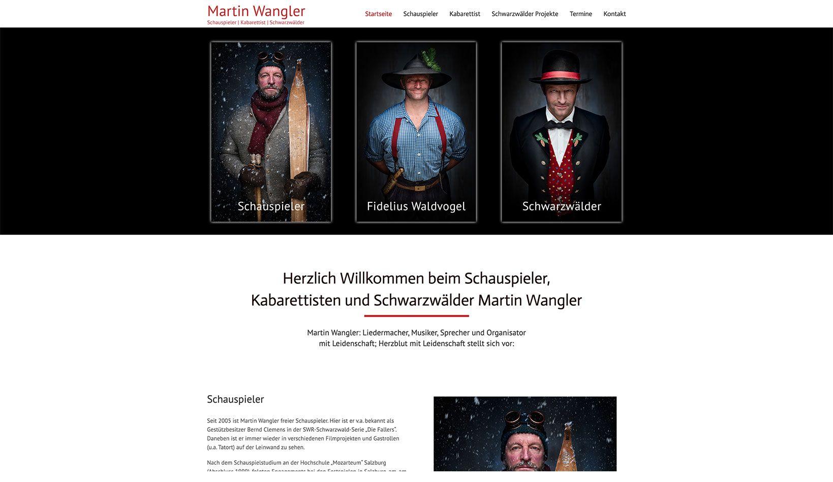 Webdesign – Martin Wangler